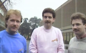 #TBT Marty Whelan and the Pancake Relay Road Race in 1986.