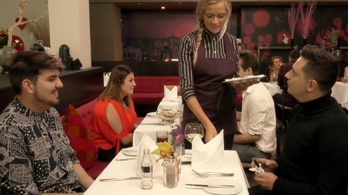 Just what everyone wants in a perfect date. A man with his own cutlery