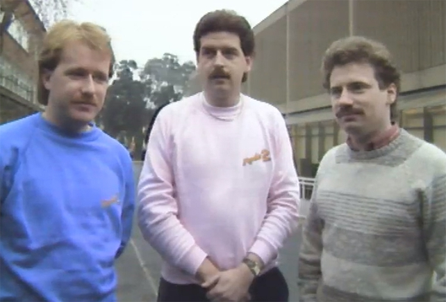 Tony Fenton, Marty Whelan and Barry Lang