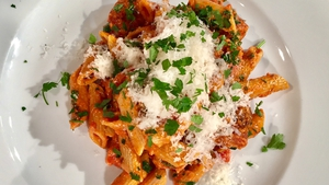 Eunice Power's chorizo and pasta dish from Today with Maura and Daithi