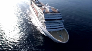The couple were on a Mediterranean cruise on the MSC Magnifica
