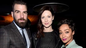 Honorees Caitriona Balfe, Zachary Quinto, and Ruth Negga