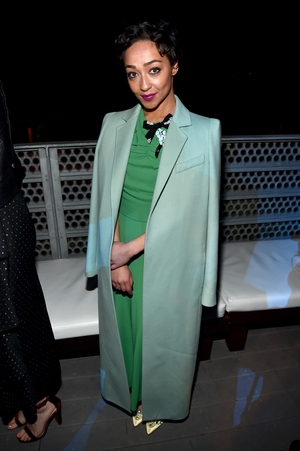 Our girl in green. Ruth Negga represented Ireland in a stunning green ensemble. We love her vintage chic style.