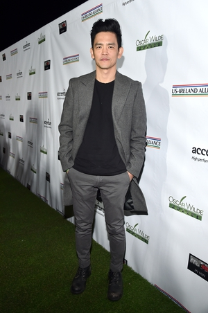 Actor John Cho looks dapper in grey.