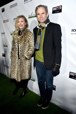 Catherine O'Hara and Bo Welch look...well, cold. We do love Catherine's animal print coat though!