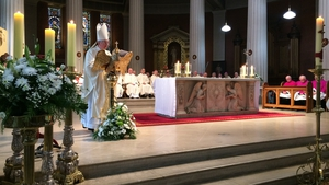 Catholic Archbishop Diarmuid Martin celebrated the funeral mass