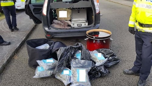 The drugs were discovered at a checkpoint in Laois
