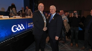 John Horan with current GAA President Aogán Ó Fearghaíl after his election