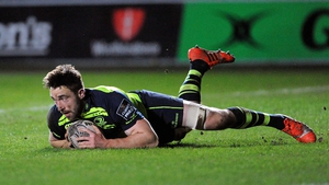 Jack Conan scores Leinster's opening try