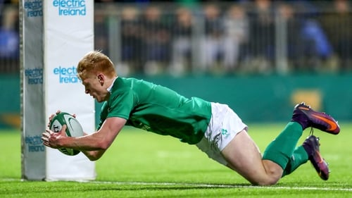 Tommy O'Brien scores the second try of the night
