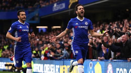 Cesc Fabregas opened the scoring for Chelsea at Stamford Bridge