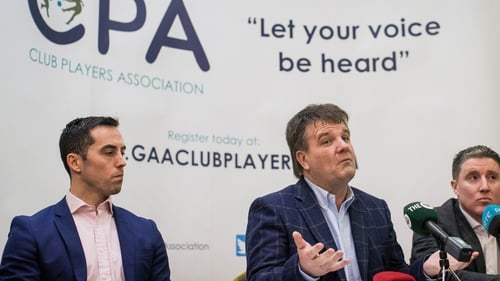 Aaron Kernan, Declan Brennan and Michael Briody at the launch of the CPA in January 2017