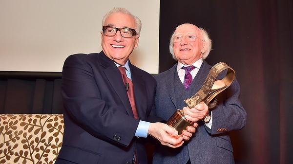 President Michael D Higgins presented Martin Scorsese with IFTA's John Ford Award on Saturday