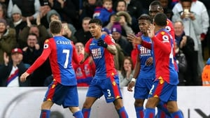 Patrick van Aanholt scored his first goal for Crystal Palace since his move from Sunderland in January