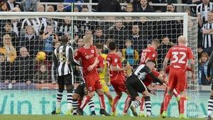 Ciaran Clark earned Newcastle a point at St James' Park