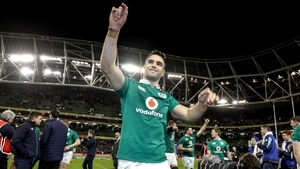 Conor Murray salutes the fans