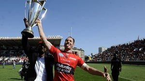 Ali Williams (R) pictured winning the Top 14 with Toulon