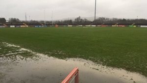 A rather wet Healy Park in Omagh