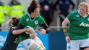 Ireland's Paula Fitzpatrick tackled by Camille Cabalou of France