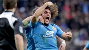 Giovanbattista Venditti's try gave Italy a half-time lead