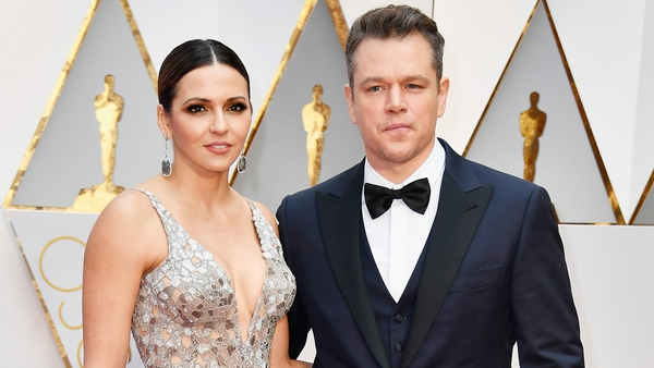 Matt Damon and wife Luciana Barroso on the Oscars red carpet