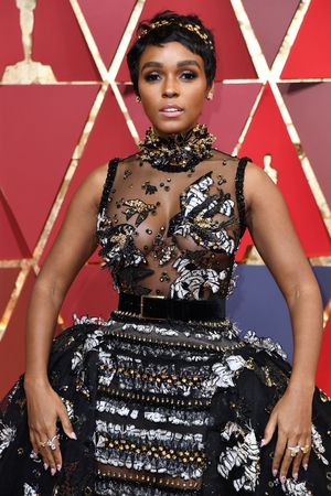 Janelle Monáe in a daring Elie Saab Couture.