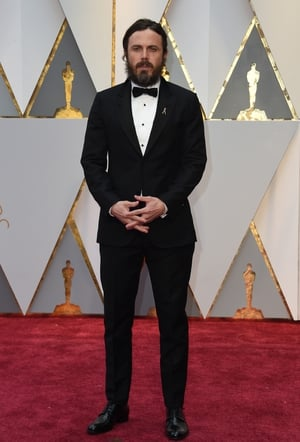 Nominee for Best Actor in 'Manchester By The Sea' Casey Affleck in a classic tux and bow tie.