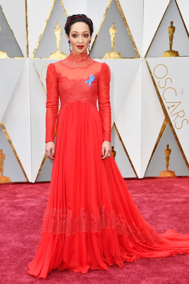 Ruth Negga red carpet Oscars 2017