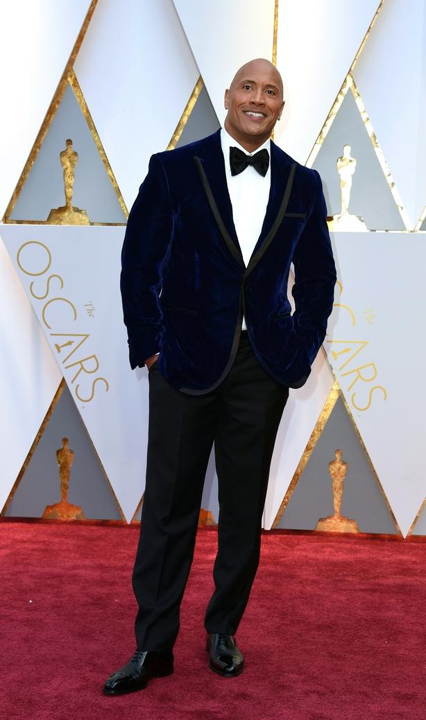 Dwayne 'the rock' Johnson Oscars 2017