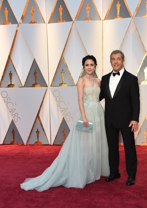 Nominee for Best Director 'Hacksaw Ridge' Mel Gibson and his girlfriend Rosalind Ross