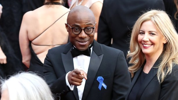 Moonlight director Barry Jenkins was pictured with the ACLU ribbon