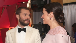 Northern Irish actor Jamie Dornan and his wife, actress Amelia Warner looked beautiful together at the Oscars last night in the Dolby Theatre in Los Angeles for the 89th Academy Awards. #supercute