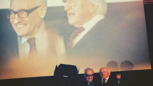 The President of Ireland meets The President of Cinema: Martin Scorsese receives his John Ford Award from Michael D. Higgins