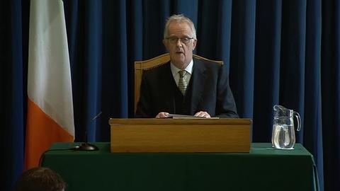 Judge Peter Charleton Outlines the Disclosure Tribunal