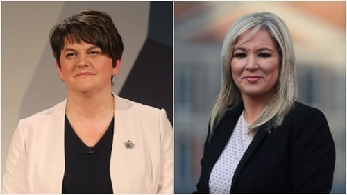 Arlene Foster and Michelle O'Neill blamed each other for the collapse of powersharing