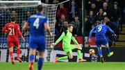 Vardy opens the scoring for Leicester City