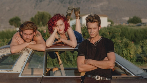 Rebels without a cause: Jamalee, Sammy and Jason in Tomato Red.