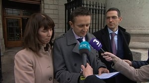 Sadhbh's parents Niamh and Shane Farrell speak to reporters