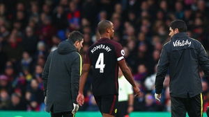 A leg injury has sidelined Vincent Kompany