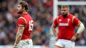 Leigh Halfpenny (L) 'felt the conditions weren't right' for the penalty attempt