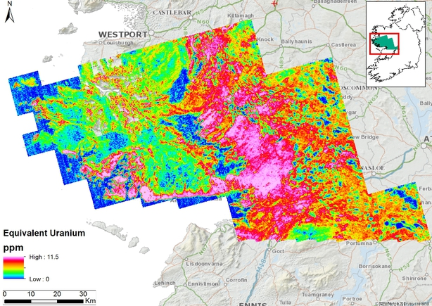 Fresh Clues On Reasons For High Radon Levels In Galway - Us radon map