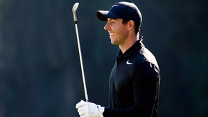 Rory McIlroy practising ahead of the World Golf Championships -Mexico Championship