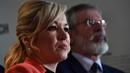 Sinn Féin's leader in Northern Ireland Michelle O'Neill pictured alongside Gerry Adams