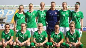 The Ireland team that faced the Czech Republic