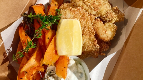 Ali's Gluten Free Fish & Sweet Potato Chips: Today