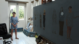Scientist Aoife McLysaght poses for artist Blaise Smith, for the Women On Walls project.
