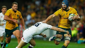 Scott Fardy in action for Australia against England