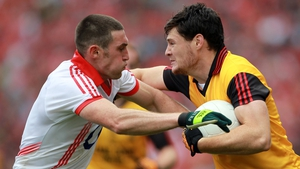 Marty Clarke in action against Cork's Noel O'Leary in the 2010 All-Ireland final