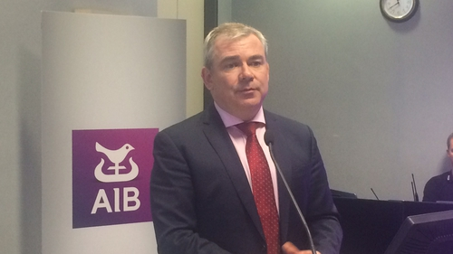 AIB CEO Bernard Byrne said the first half of 2017 was 'very positive' for the bank