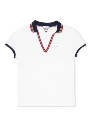 This polo shirt by Tommy Hilfiger is the perfect way to have a sporty yet feminine look. Plunging necklines are so on trend.
